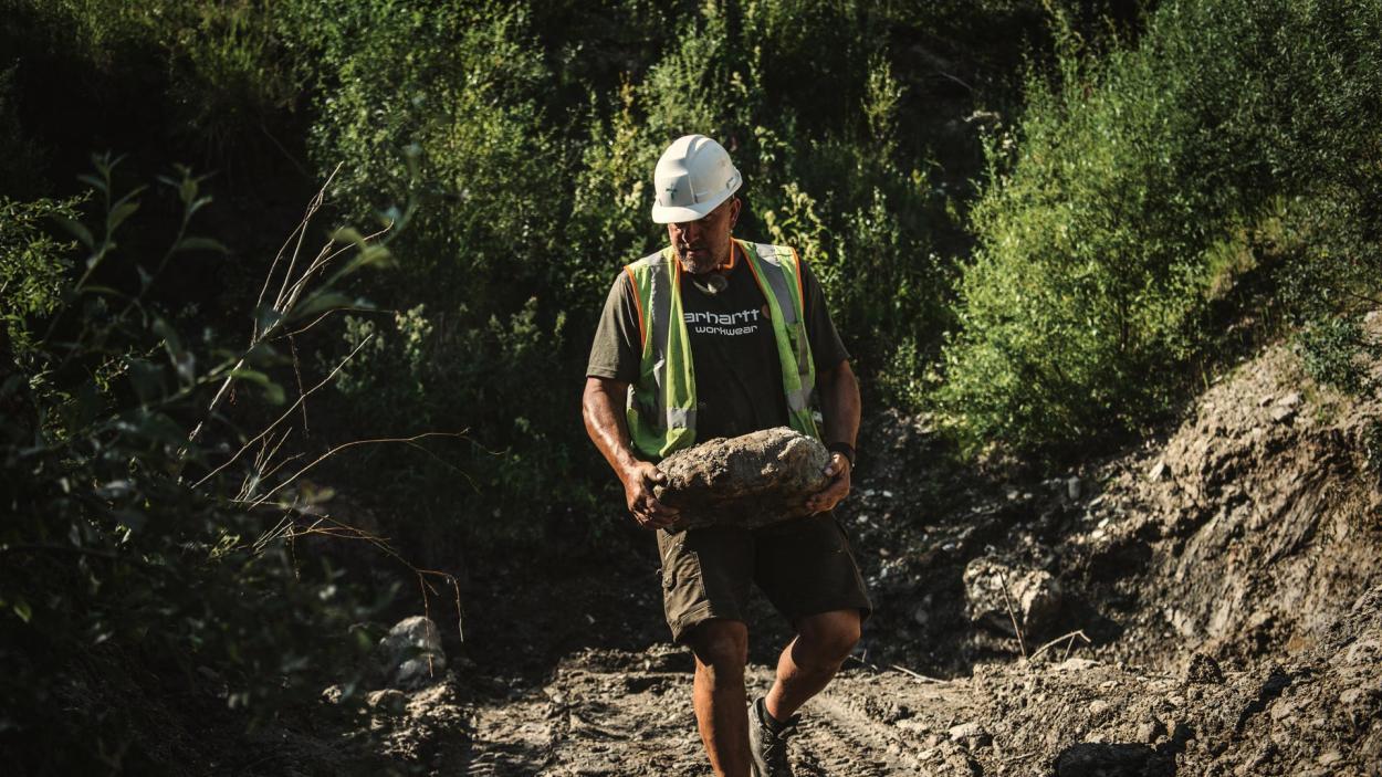 Goldrausch am Yukon: Erdreich wegschaffen