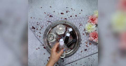 Geschenkidee: DIY Rosen Lavendel Deo Spray