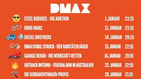 DIE DMAX-NEUSTARTS IM JANUAR 2019!