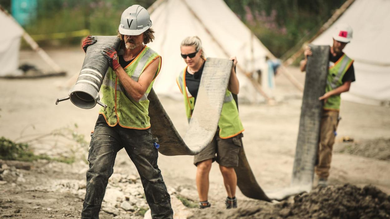 Goldrausch am Yukon: Jede Menge zu schleppen