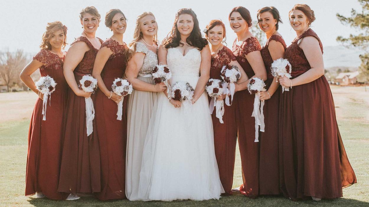 Mykelti und ihre Brautjungfern