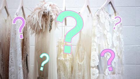 Hochzeitskleid-Test