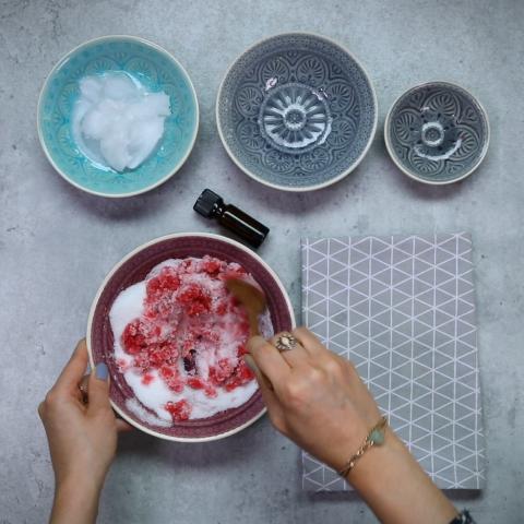 Beauty: Himbeer-Zitronen-Peeling
