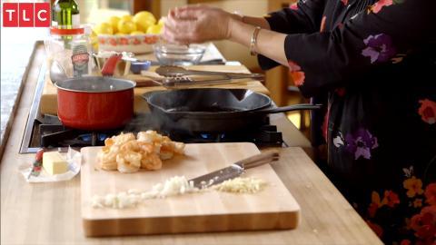 Rees Country Küche: Risotto mit Zitrone, Basilikum und Garnelen