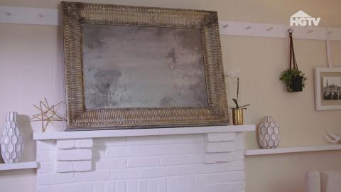 DIY: Ein Bilderrahmen wird zu einem antiken Spiegel
