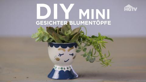 DIY: Mini-Gesicher-Blumentöpfe