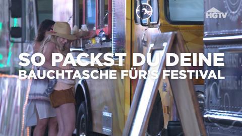 So packst du deine Festival-Bauchtasche