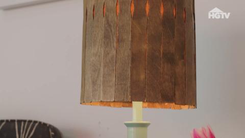 DIY: Lampenschirme aus Farbrührstäbchen