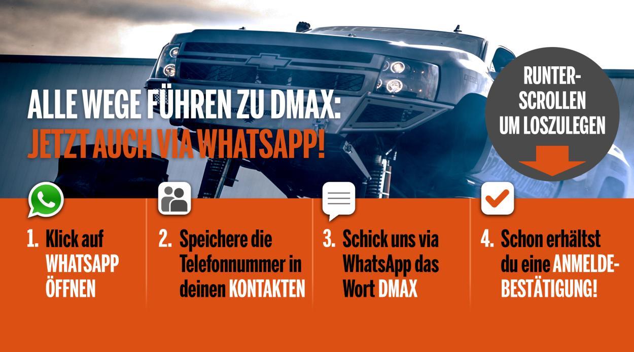 DMAX bei WhatsApp