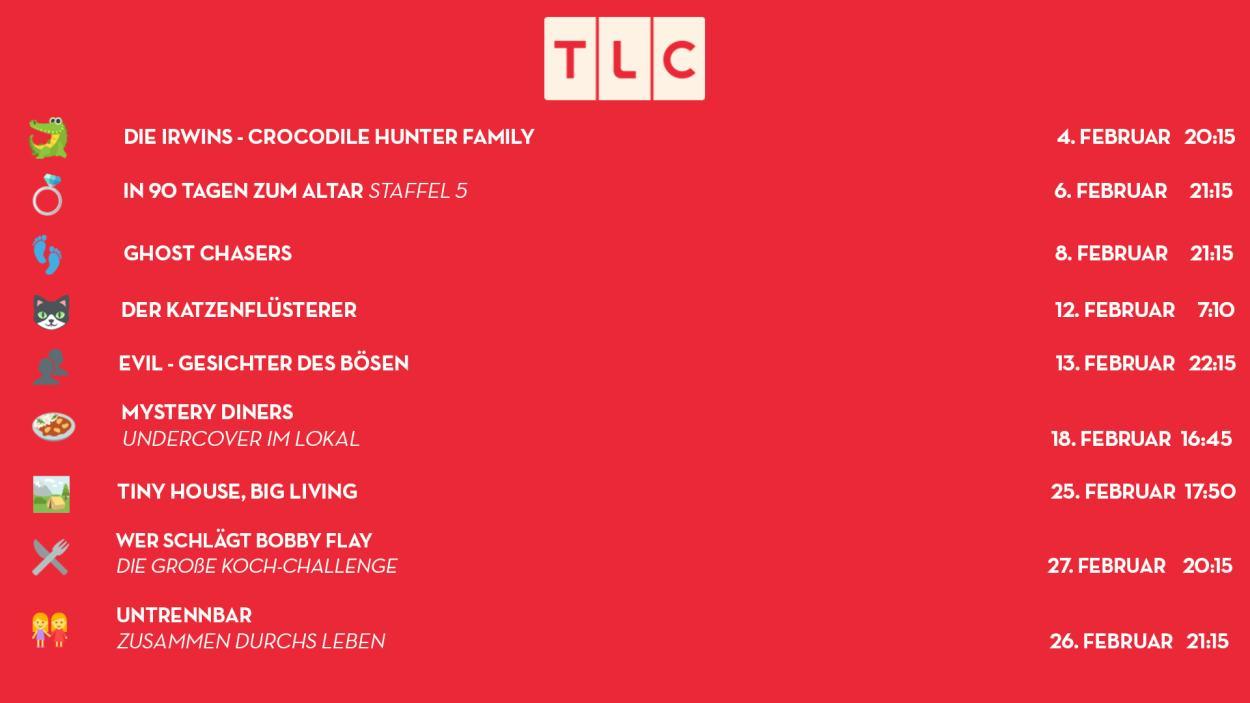Willkommen bei den TLC-Highlights im Februar 2019!