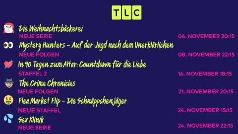 Freut euch auf die TLC-Neustarts im November!
