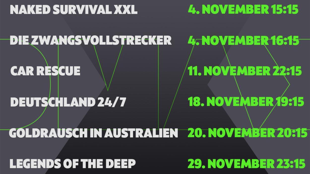 Euer DMAX-Programm im November!
