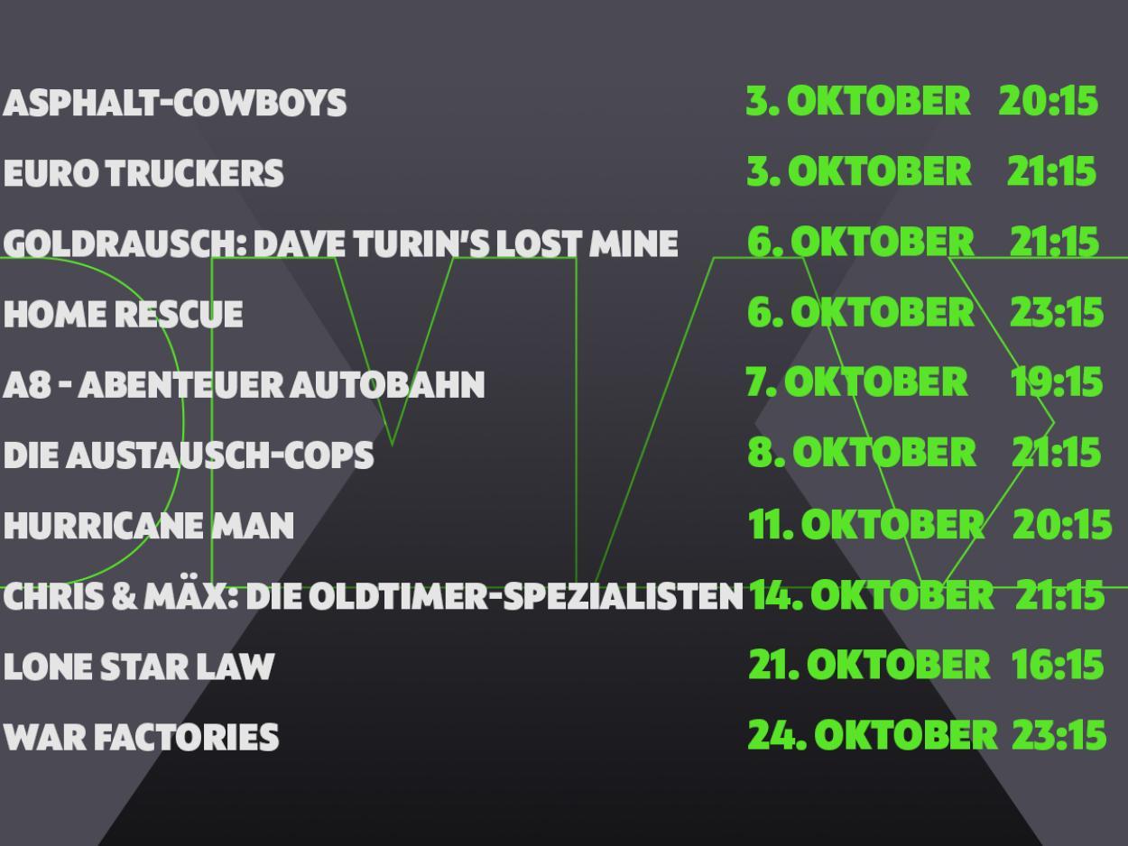 Das sind die DMAX-Neustarts im Oktober!
