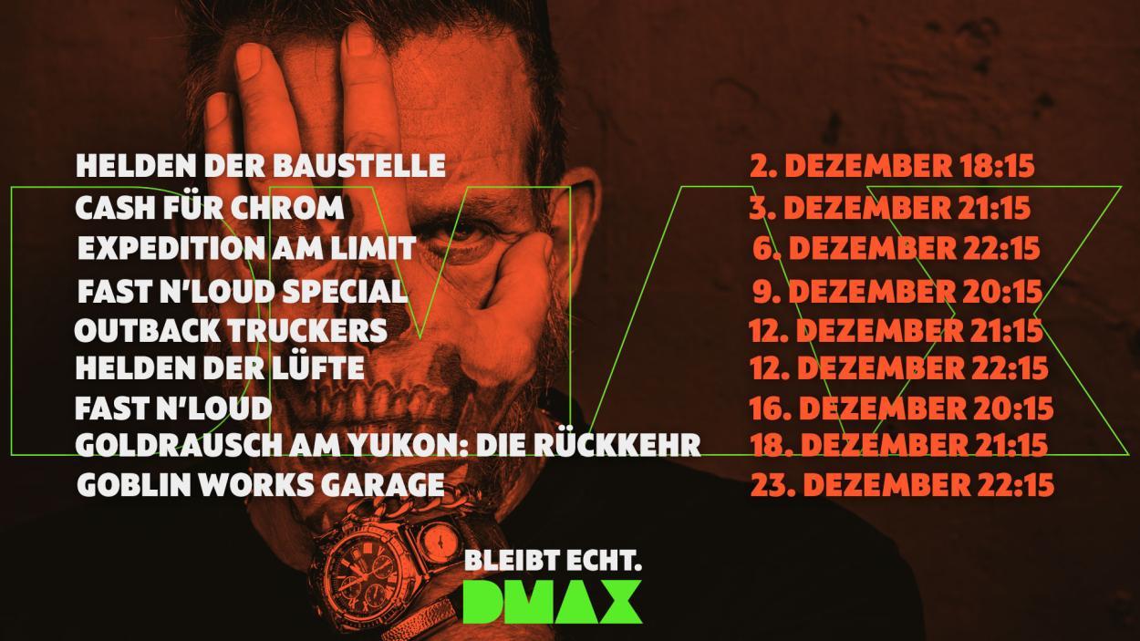 Das sind die Neustarts im Dezember auf DMAX!