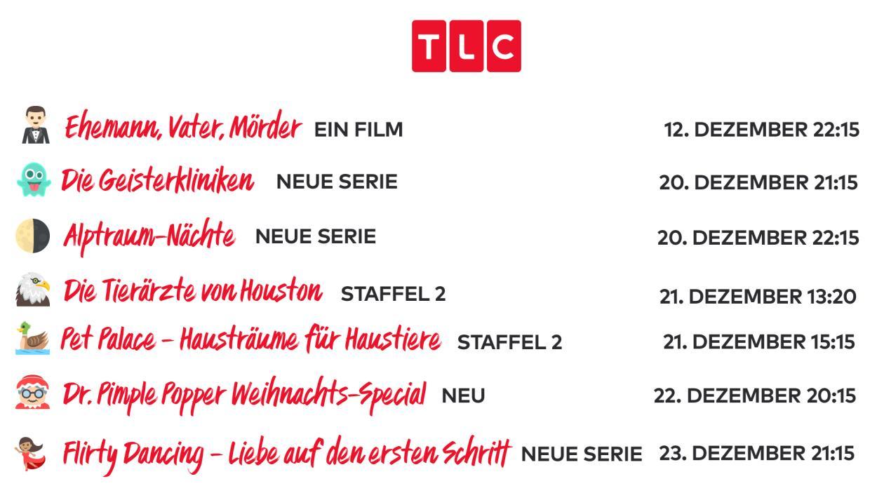 Das sind die TLC-Neustarts im Dezember 2019!