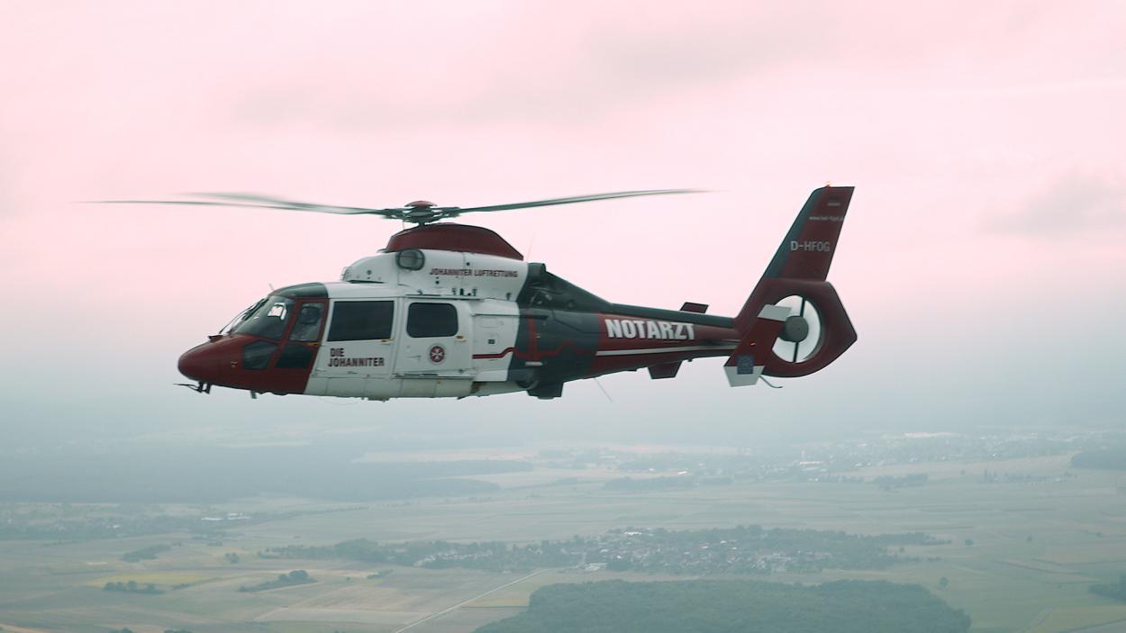 Notarzt-Helikopter unterwegs