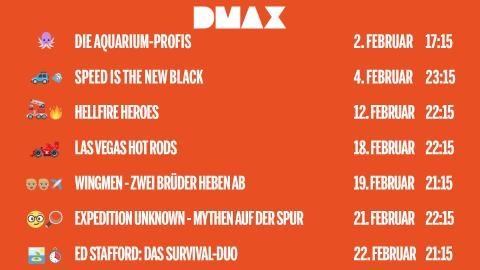 DMAX Neustarts im Februar 2019