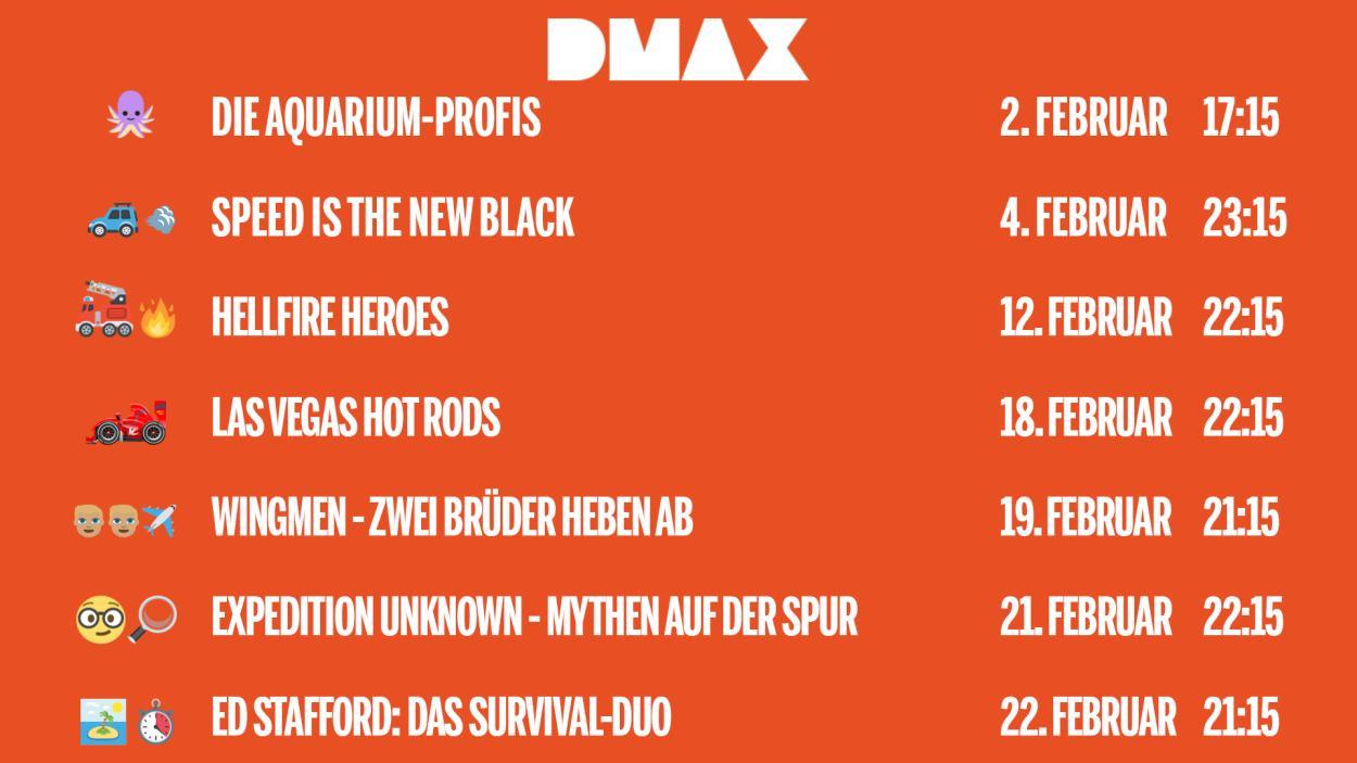 Das sind die DMAX-Neustarts im Februar 2019!