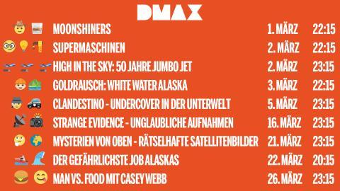 Das sind die DMAX-Neustart im März 2019!