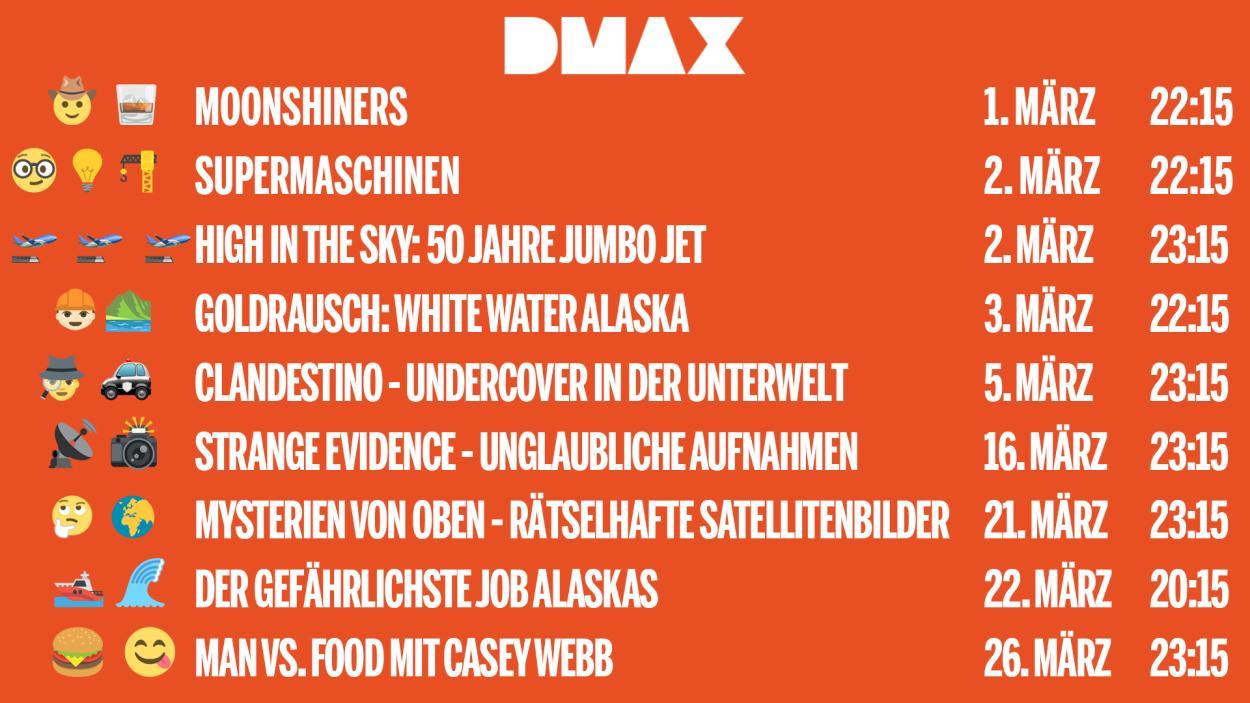 Das sind die Neustarts auf DMAX im März 2019!