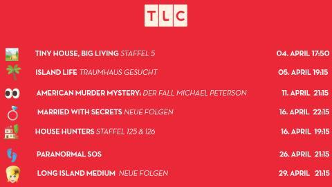 Hier sind die TLC-Neustarts im April!