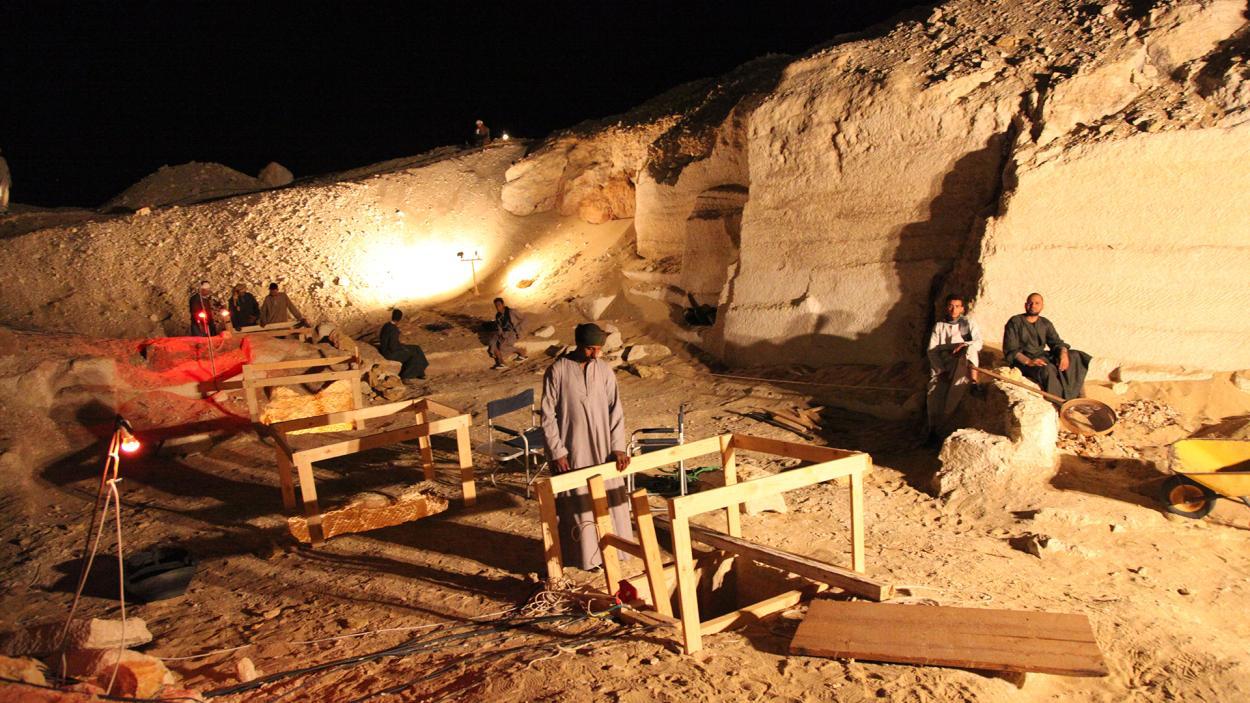 Egypt live: Die Ausgrabungsstäte in