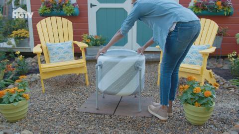 Waschmaschine wird zur Feuerstelle