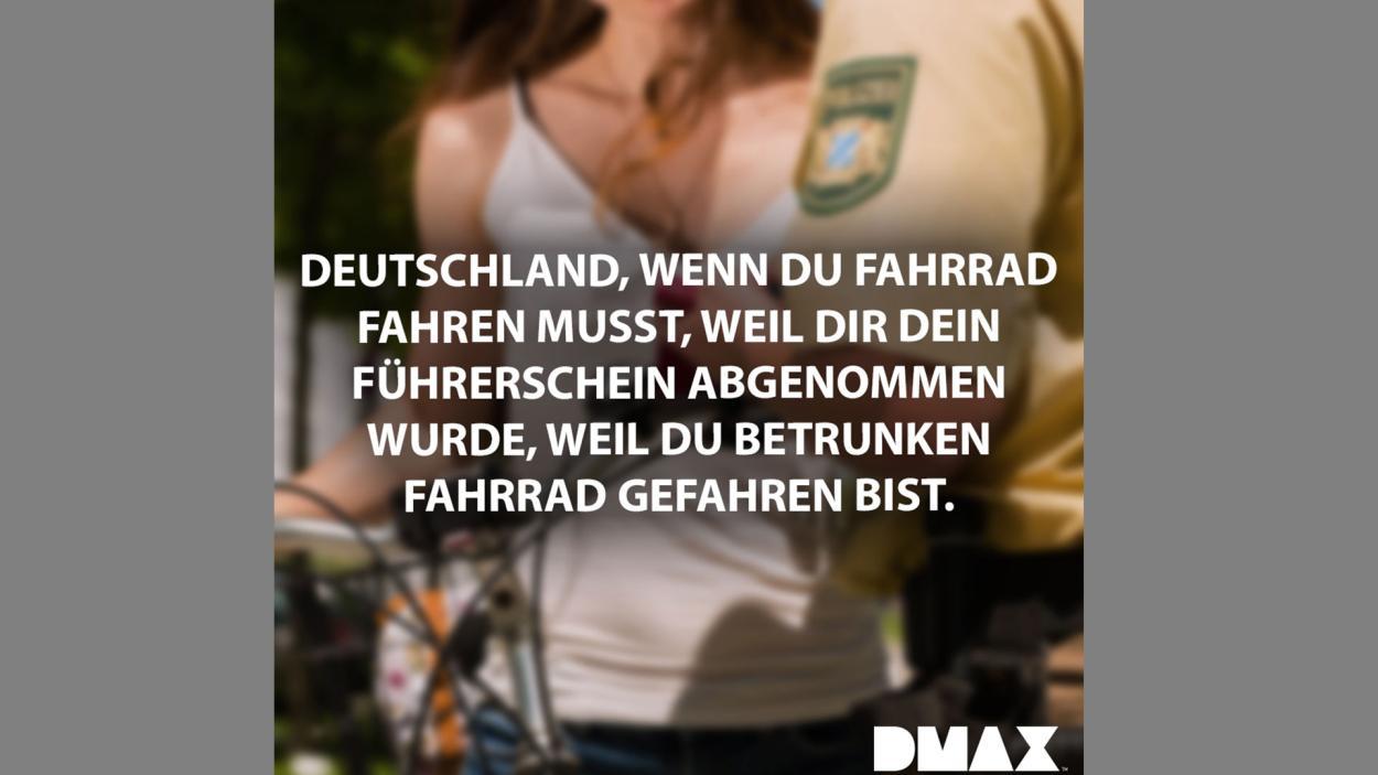 Deutschland, wenn du Fahrrad fahren musst...