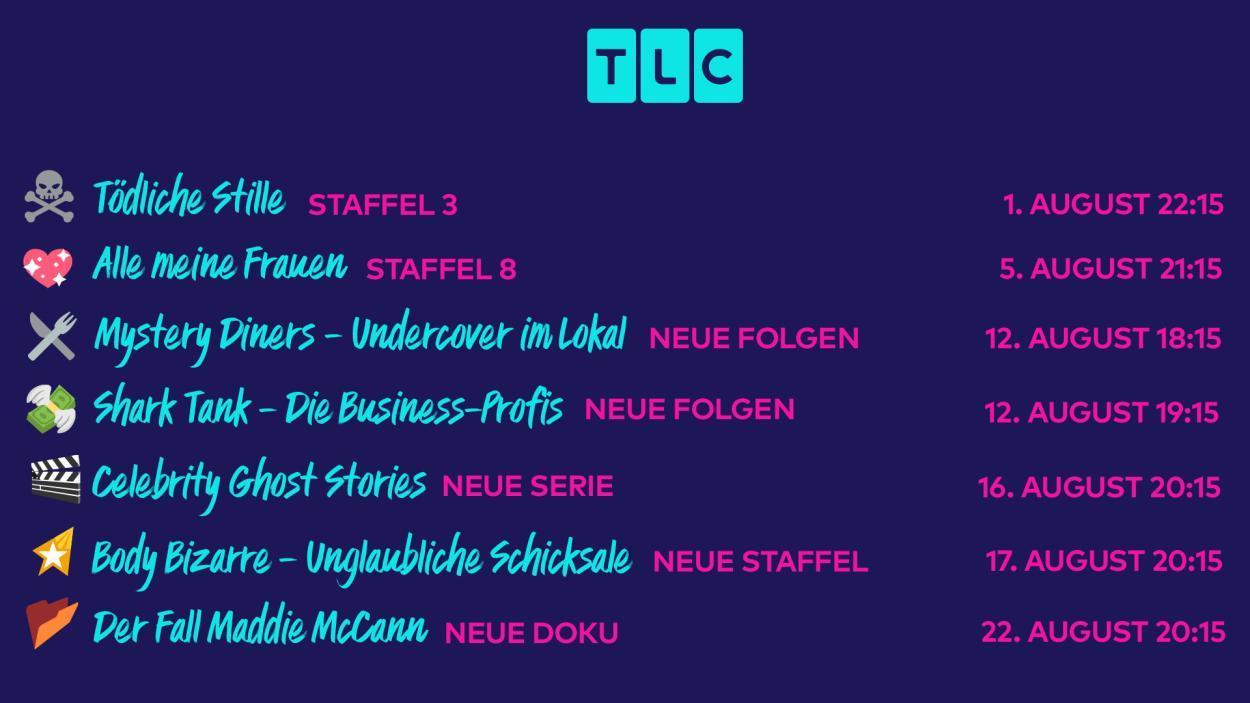 Willkommen zu den TLC-Neustarts im August!