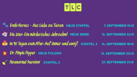 Die TLC Neustarts im September