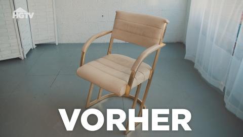 Einen alten Vinyl-Stuhl lackieren