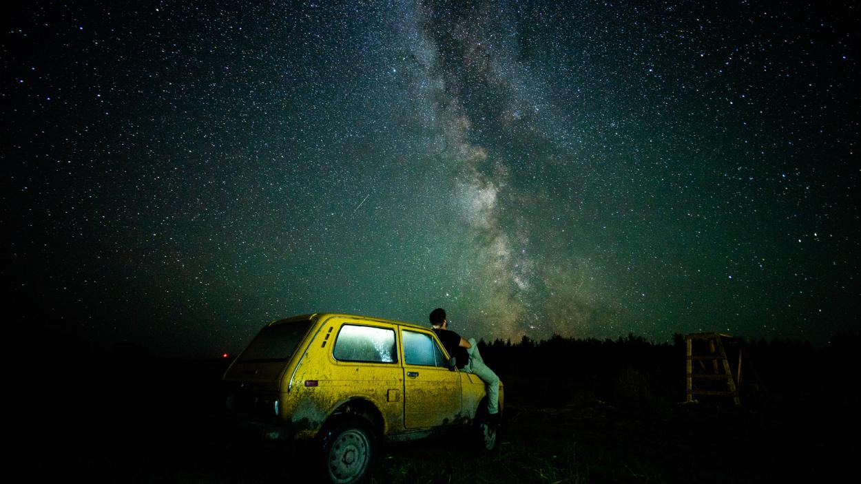 Ausgerechnet Sibirien - Ulf steigt aus: Blick auf die Milchstraße
