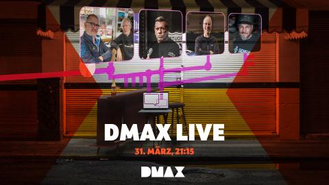 """DMAX LIVE"": 31.3., 21:15 Uhr!"